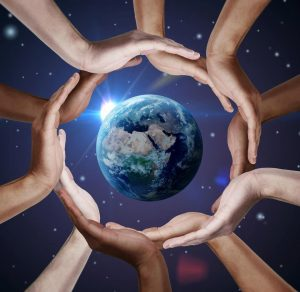 hands around the earth